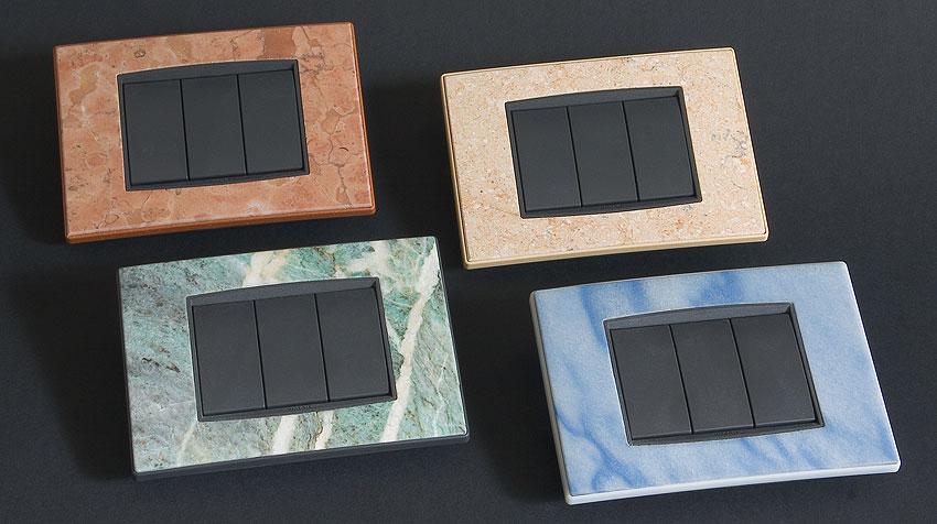 Zunino marmi genova accessori in marmo - Placche per interruttori ...